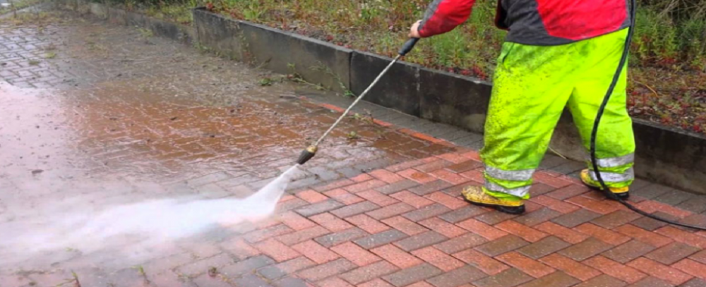 jet wash your driveway